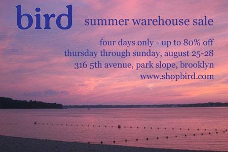 Bird Summer Warehouse Sale