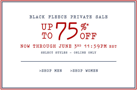 Black Fleece Private Sale