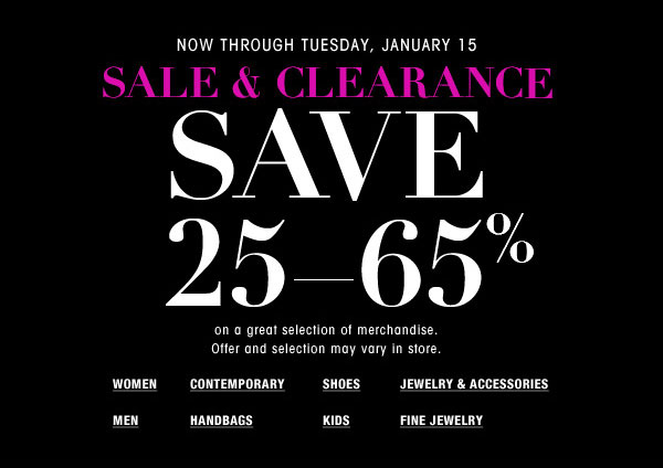 Bloomingdale's Clearance Sale