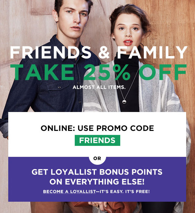 Bloomingdale's Friends & Family Sale