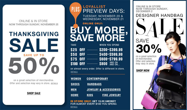 Bloomingdale's Thanksgiving Sale
