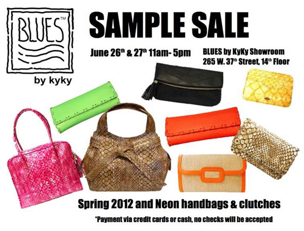 BLUES by kyky Sample Sale