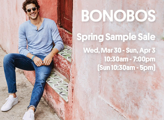 Bonobos Spring Sample Sale