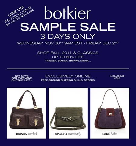 Botkier Online Sample Sale