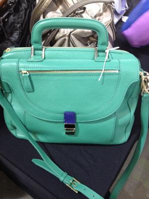 Valentina Mint Green Cowhide Hobo Bag ($225, orig. $395)