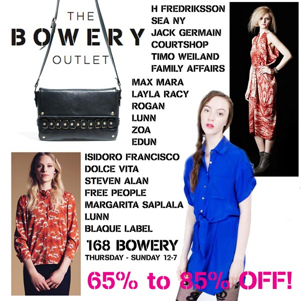 The Bowery Pop-up Sample Sale