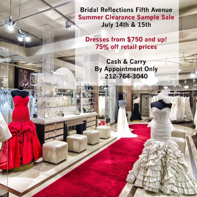 Bridal Reflections Summer Clearance Sample Sale