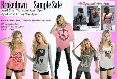 Brokedown Clothing Sample Sale