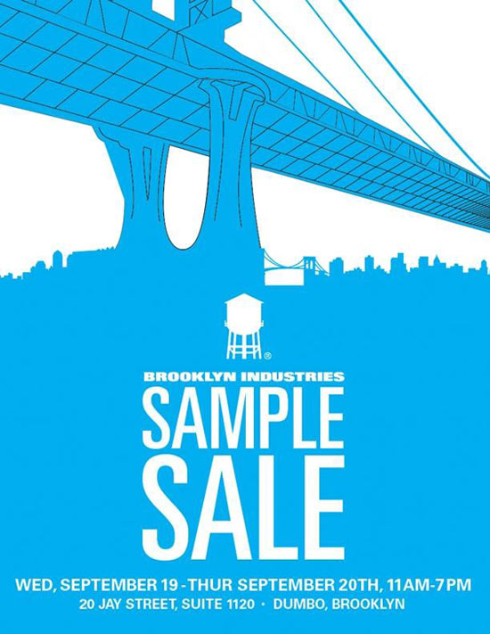 Brooklyn Industries Sample Sale
