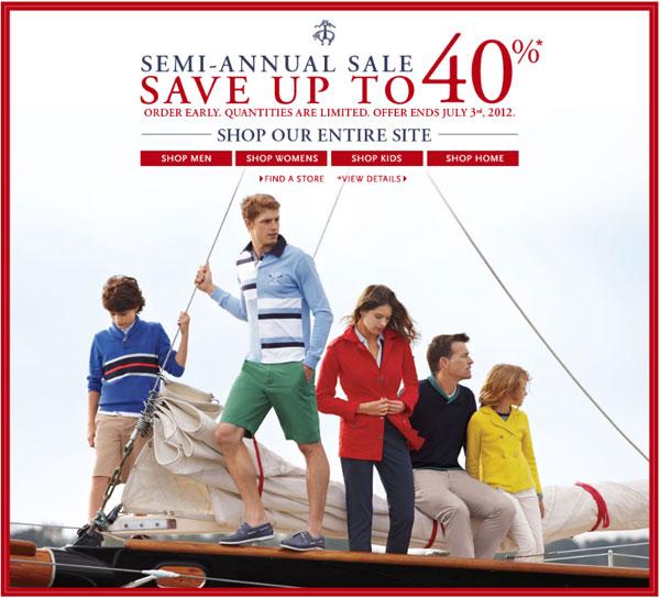 Brooks Brothers Semi-Annual Retail Sale