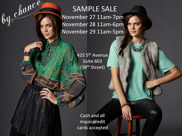 By Chance Sample Sale