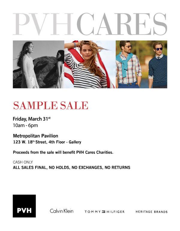 Calvin Klein, Tommy Hilfiger, Heritage Brands Sample Sale
