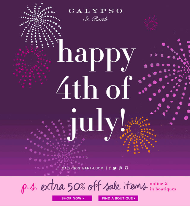 Calypso St. Barth 4th of July Sale