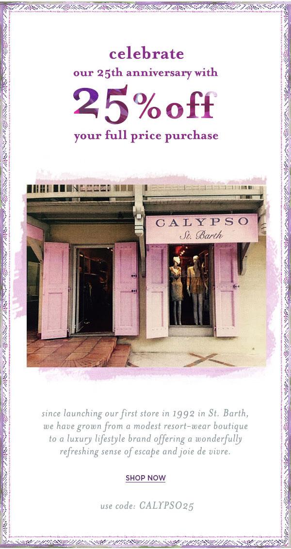 Calypso St. Barth Anniversary Sale