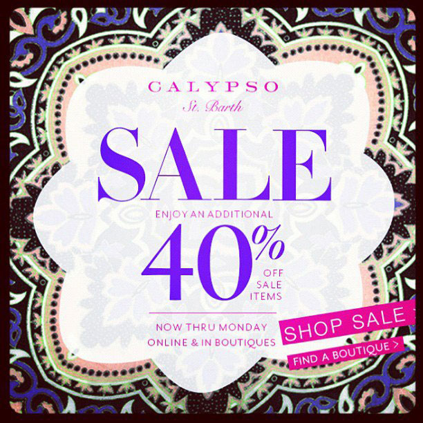 Calypso St. Barth Columbus Day Sale