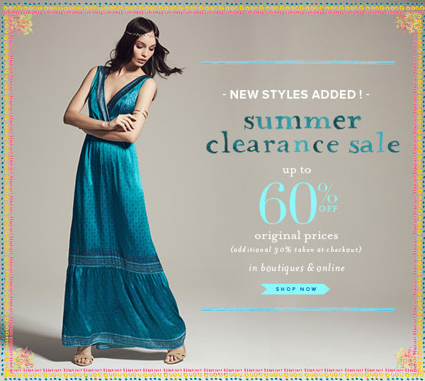 Calypso St. Barth Summer Clearance Sale