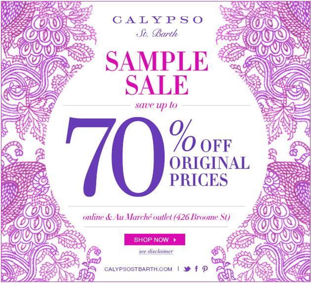 Calypso St. Barth Winter Sale