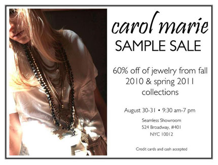 Carol Marie Sample Sale