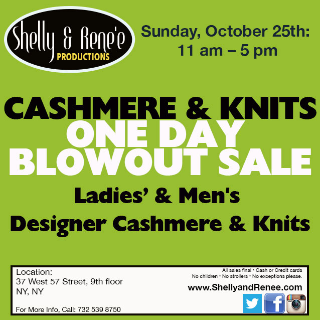 Cashmere & Knits One Day Blowout Sale