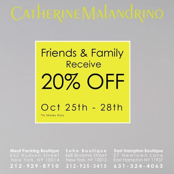 Catherine Malandrino  Friends & Family Sale