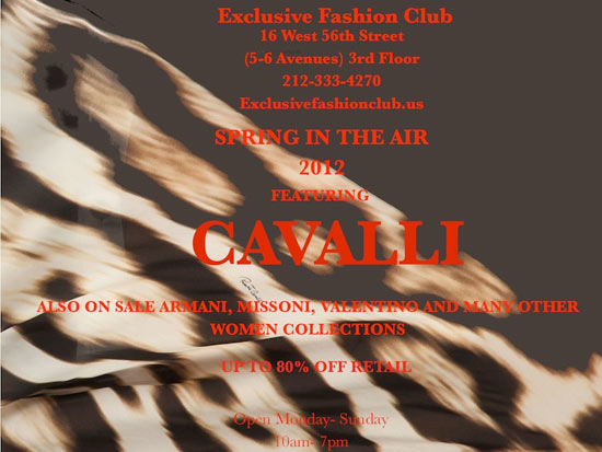 Cavalli Sample Sale