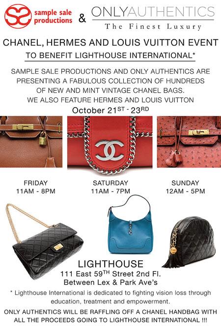 Chanel, Hermes, Louis Vuitton & more Sample Sale