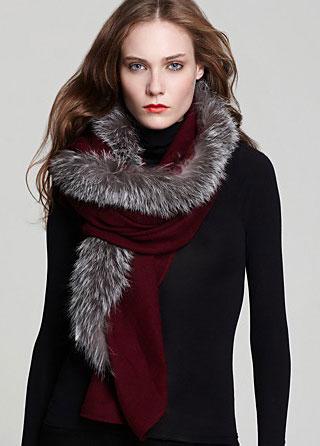 Charlotte & Lisa Center Fur Scarf $275
