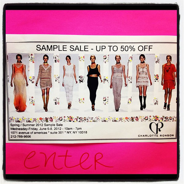 Charlotte Ronson Sample Sale