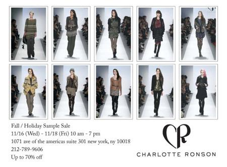 Charlotte Ronson Holiday Sample Sale