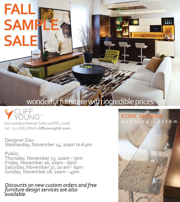 Cliff Young Ltd. Fall Sample Sale