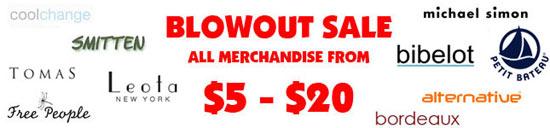 Clothingline Blowout Sale