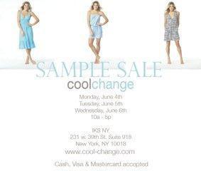 coolchange Sample Sale