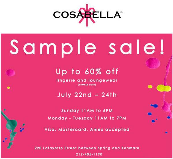Cosabella Sample Sale
