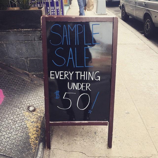 Courtshop Sample Sale