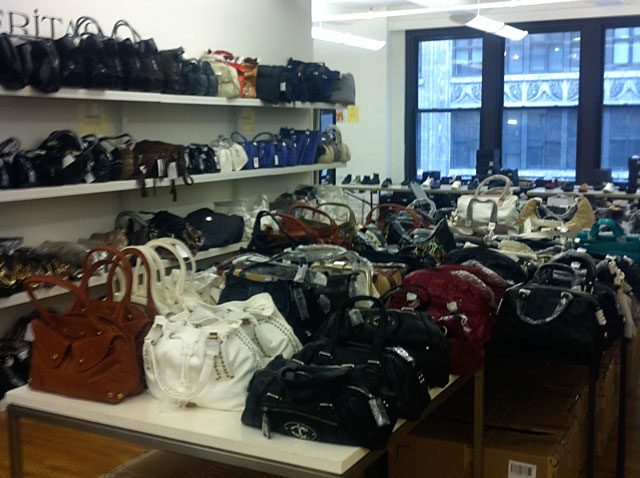 Handbags are 70% percent off at the CP Fashion Group Sample Sale
