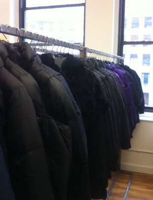 Outerwear  at the CP Fashion Group Sample Sale