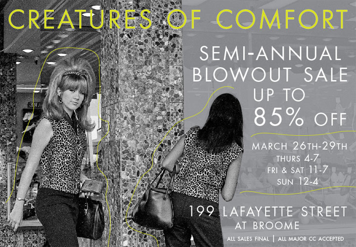 Creatures of Comfort Semi-Annual Blowout Sale