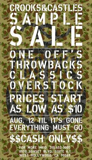 Crooks & Castles Sample Sale