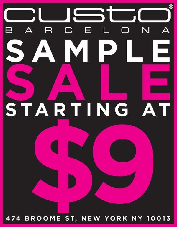 Custo Barcelona Sample Sale