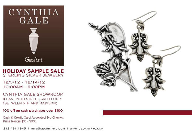 GeoArt by Cynthia Gale Holiday Sample Sale