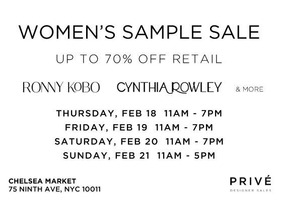Cynthia Rowley, Ronny Kobo, & More Sample Sale