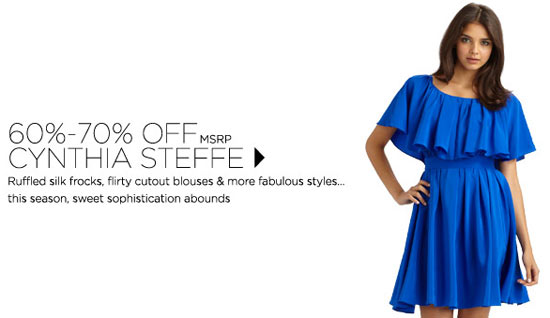 60%-70% off Cynthia Steffe signature looks + a spectacular sweater spree