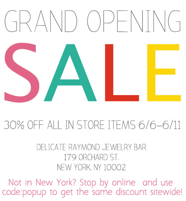 Delicate Raymond Grand Opening Sale