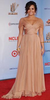 Demi Lovato wearing Maria Lucia Hohan