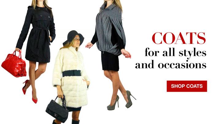 Dennis Basso, Moschino, & Escada Designer Coats Sale