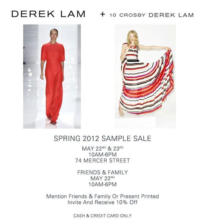 Derek Lam + 10 Crosby Sample Sale