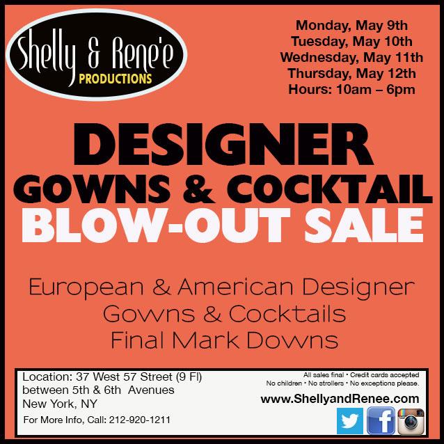 Designer Gowns & Cocktail Blowout Sale