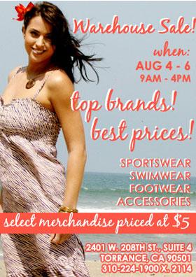 Diane's Beachwear Warehouse Sale