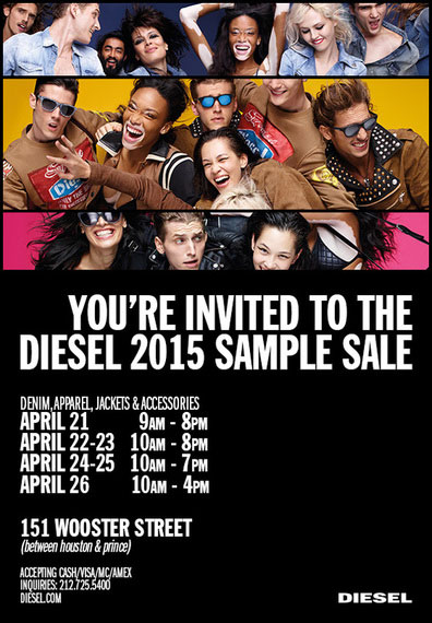 Diesel 2015 Sample Sale