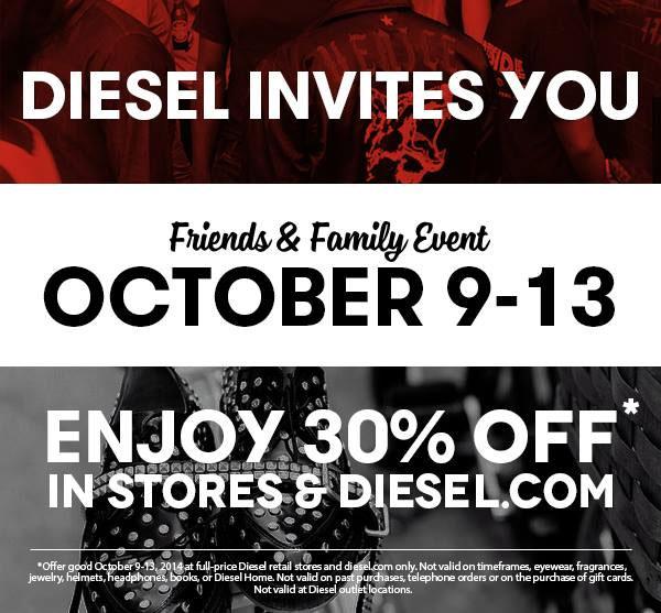 Diesel Friends & Family Sale